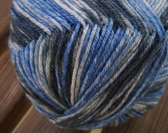FINGERING or SOCK Weight Yarn - 100g - 464 yards - Virgin Wool and Nylon Blend from Germany - Opal Show Your Colors - Blue Grey Slate