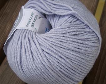 DK Weight Yarn - Lavender Mist Washable Superfine Merino - 50 g 137 yards - Violet  Purple Grey - Ornaghi Filati Merino Kind