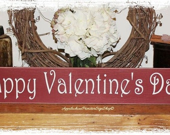 Happy Valentines Day WOOD SIGN Home Decor Holiday Decoration