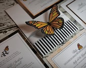 Monarch Butterfly Wedding Invitation suite DP-NTR-01