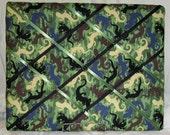 Camoflauged Reptiles Memory Board    16 X 20