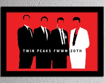 Twin Peaks - The Agents - Cooper - Bowie - Minimalist Fine Art Poster Print - Giclee - Wall Art - Home Decor
