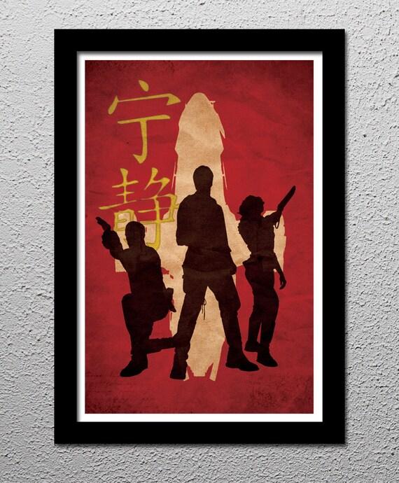Firefly Serenity Captain Malcolm Reynolds Crew - Original Minimalist    Serenity Minimalist Poster