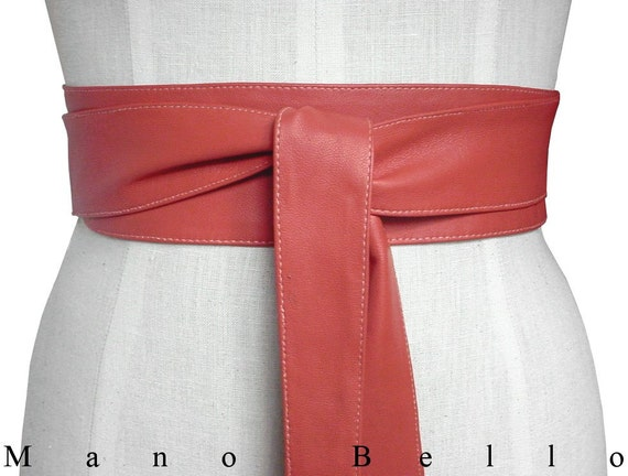 leather wrap belt tie on leather belt leather by
