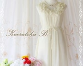 A Party III - Dress - Sweet Party Wedding Bridesmaid Cocktail Dinner Dress Ivory Color Heart Ruffle Around Neck XS-M