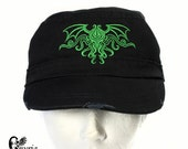 Cthulhu Lovecraft hat - The Ancient One cap - Black