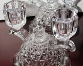 VALENTINESALE 1930's Imperial Glass Candle Holders with Double Arms