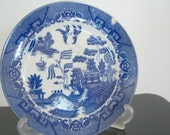 On Sale Vintage Classic Blue Willow Plate Made in Japan Home Decor New Orleans Vintage Shop Holiday Retro Vintage