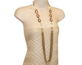 Dolce and Gabbana Necklace, Extra Long Runway, Signed, Vintage