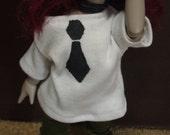MARKDOWN YoSD BJD Black and White fake Tie-Shirt