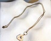Triangle Squared Geometric Wood Pendant Necklace