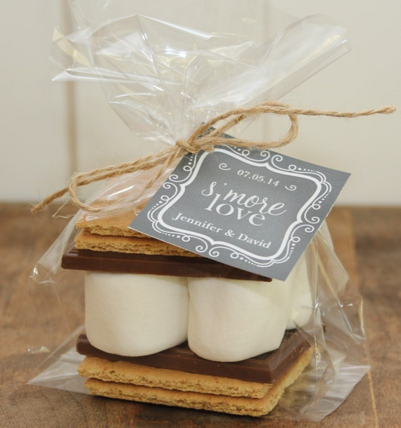 24 S'mores Wedding Favor Kits - Any Label Design