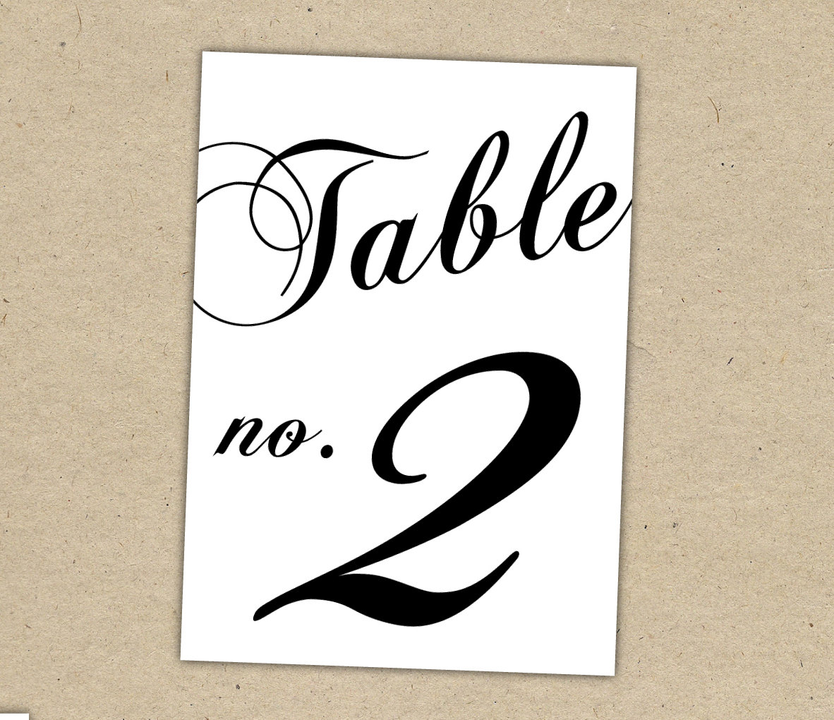 Dynamic image intended for printable table number
