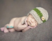 Baby Boy Hat/ knit button Hat / boy Photo Prop/ Infant Hat / Newborn Boy Hat/ Coming Home Outfit