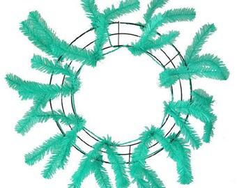"""24"""" Deco Mesh Work Wreath -- SEAFOAM"""
