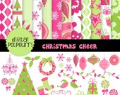 buy2get1 37 pc background and clipart set - christmas cheer