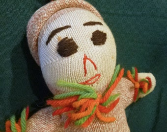 1930's-40's Primitive Sock Doll