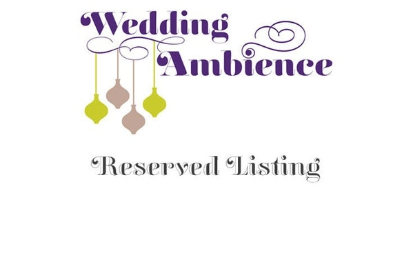 Reserved Listing for Jackie F