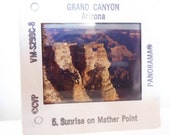 Vintage 1970s Panorama Grand Canyon National Park 5 photography slides negatives