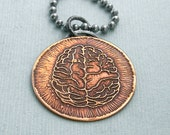 Brainz - Etched Brain pendant - Zombies - Halloween - Walking Dead