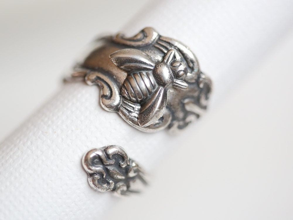 antique spoon ring silver bee ring jewelry giftsilver spoon