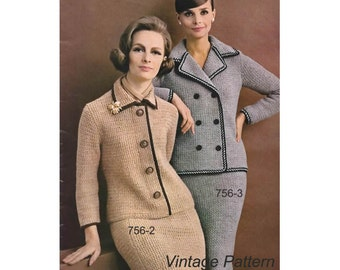 Crochet Pattern - Crochet Princessa Suit and Doule Breasted Suit PDF Patterns - 756 - 2 / 3 - Instant Download