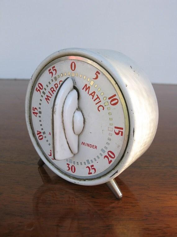 Vintage Kitchen Timer Mirro Matic Minute Minder