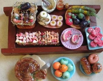Miniature Doll House Food SALE....Japanese bbq skewers....
