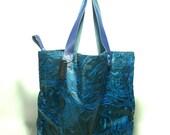 Tote Bag ( Handmade printed woodblock ) in Reverie of Happiness, Kasploy k9