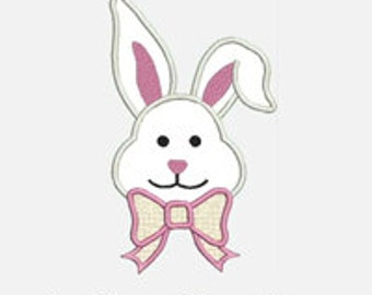 Bunny Girl...Embroidery Applique Design...Three sizes for multiple hoops...item1179...INSTANT DOWNLOAD