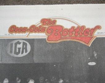 """Coca-Cola Historical 1st Issue of New Company News """"The Coca-Cola Bottler"""" Jan. 1971 Coca-Cola Memoribilia & Aretha Franklin Radio Ad Info"""