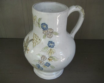 Painted White and Floral Redware Pottery - Made in Portugal