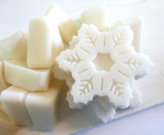 Vanilla Bean Soy Wax Melts 7oz, Snowflakes, Christmas Winter Tarts