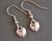 Tiny Silver Hearts II . Earrings