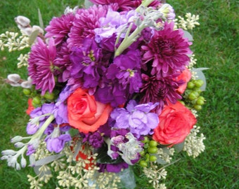 Fresh Floral Bridal Bouquet  Custom Floral Design   Bridal Bouquets   Custom Bouquets