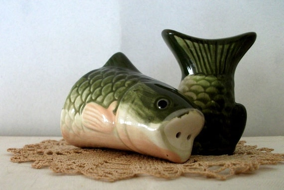 Fish Trout Salt And Pepper Shakers