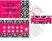 Custom Business Card and Label set Loyalty Rewards Card