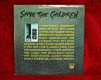 SAVE THE CHILDREN - Original Motion Picture Soundtrack - 1973 Vintage Vinyl Gatefold Record Album...Promotional Copy