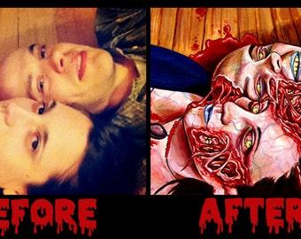 """Custom zombie Portraits 8x11"""""""""""