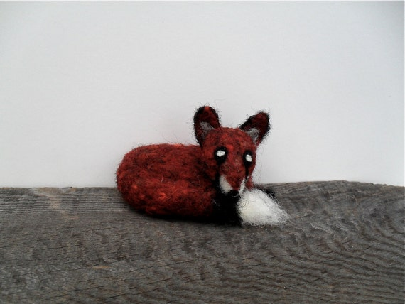 Red fox needle felted