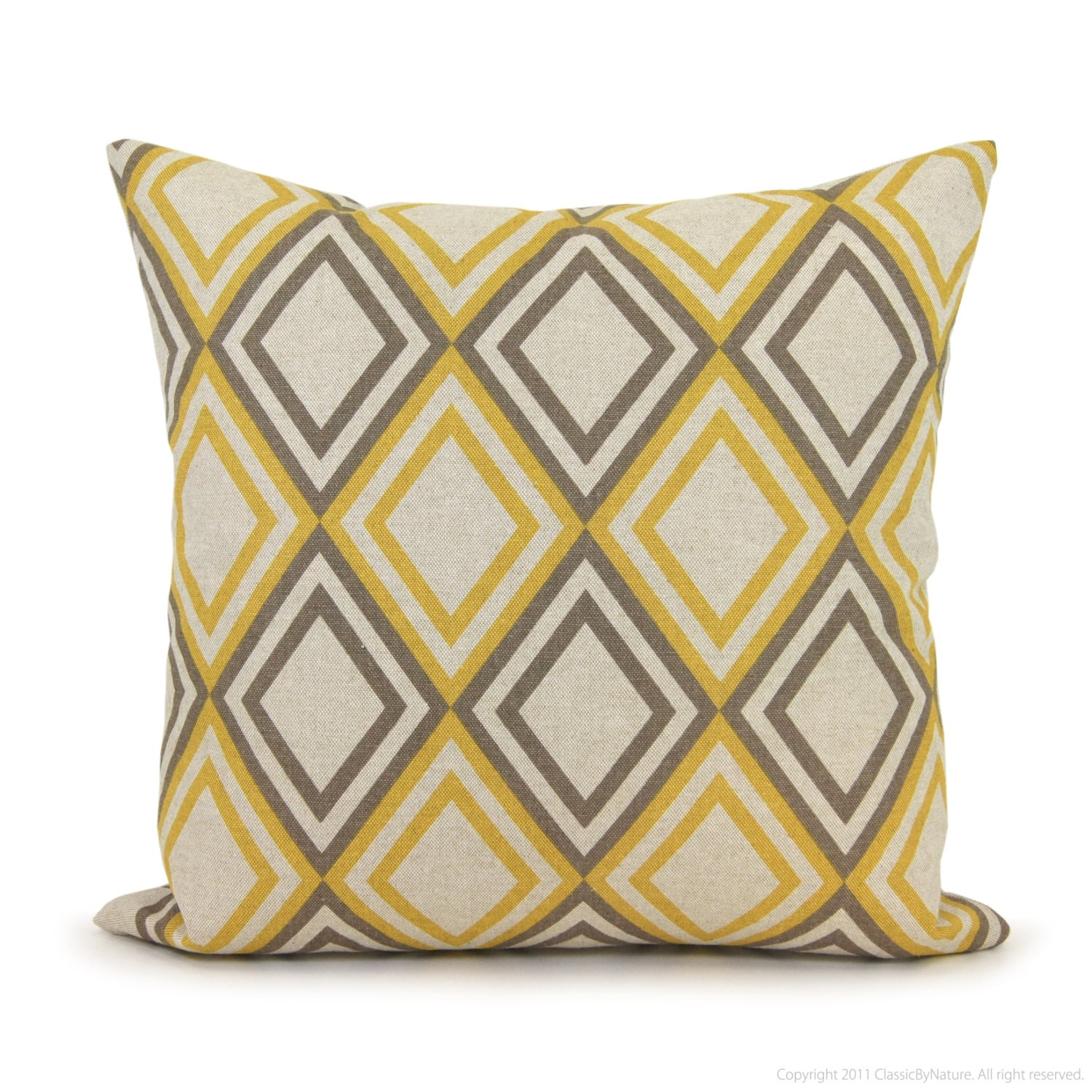 Geometric decorative pillow cover in taupe gray by for Housse coussin bleu