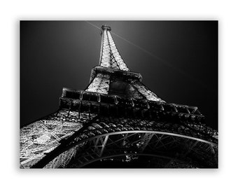 "Paris Photography, Eiffel Tower, Paris photos, Paris Decor, Home Decor Prints, Paris lights - ""Glow"" - Fine Art Photograph"
