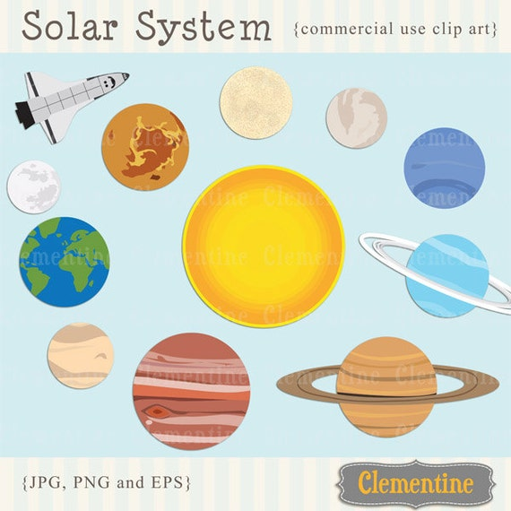the 9 planets clip art - photo #1