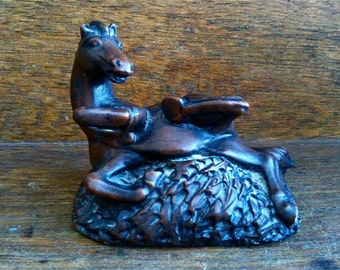 Vintage English Horse Foal Rolling Figurine Ornament circa 1950-60's / English Shop