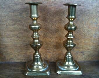 Vintage English Candle Holder Pair / English Shop