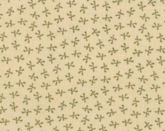 SALE 1 yard of Audra's Iris Garden Leaf Sprig by Brannock and Patek for Moda