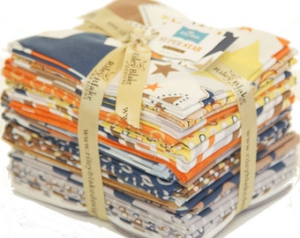 SALE Precut Fat Quarter Bundle of Super Star by Zoe Pearn of My Mind's Eye for Riley Blake