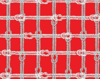 1 Yard of Maritime Modern Knotty Plaid Red by Marin Sutton for Riley Blake