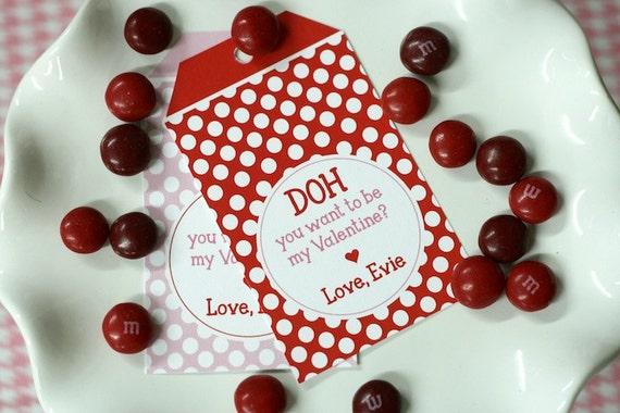 DIY, Personalized Valentine Tag