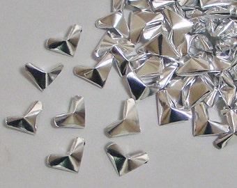 Small Origami Hearts (100): Silver Foil-Paper Hearts